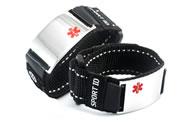 Black Sports Medical ID Bracelet