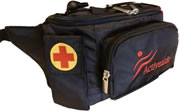 Insulated Medical Waist Bag - Black