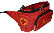 Insulated Medical Waist Bag - Red