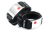 Black Sports Medical ID Bracelet