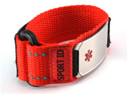 Red Sports Medical ID Bracelet