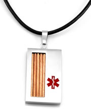 Window Pendant with Leather Chain